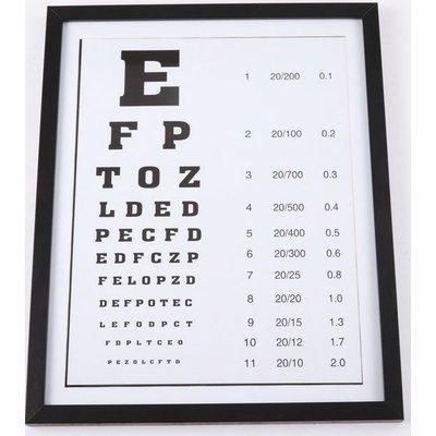 Tavla Optiker - Svart ram