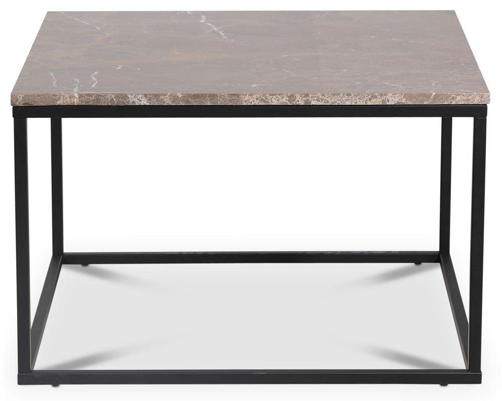 Köp Accent soffbord 75 Brun marmor Svart Skånska