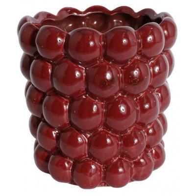 Kruka Big Bouble H18 cm - Röd (Glansig)