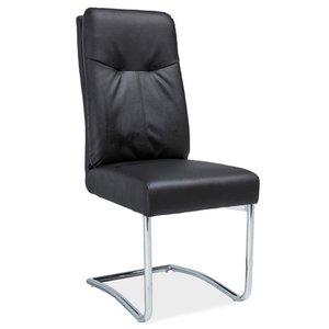Jaelynn stol - Svart/krom