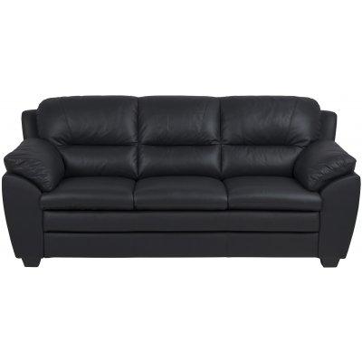 Palarmo 3-sits soffa - Svart ecoläder