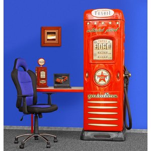 Skrivbord med garderob inbyggd bensinmack - Valfri färg!