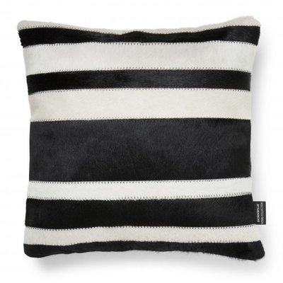 Stripy kuddfodral kohud - Svart/vit
