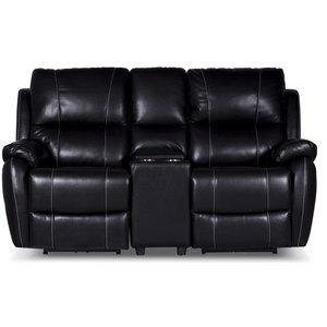 Enjoy Chicago Biosoffa - 2-sits soffa recliner (el) i svart konstläder