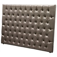 Silverhead sänggavel metallfärgat konstläder - 180 cm