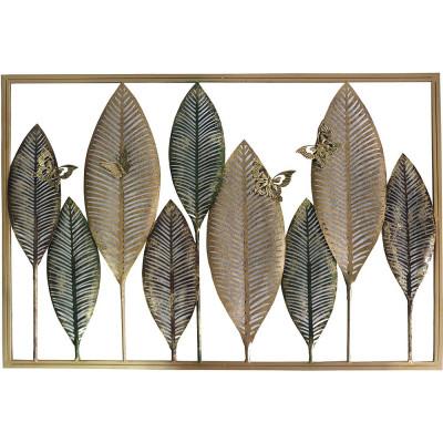 väggdekoration blad B92 cm - Multi guld