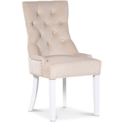Tuva Decotique stol (Rygghandtag) - Beige sammet