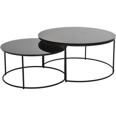Töreboda soffbord - Metall/Trä/glas