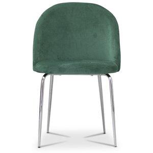 Tiffany velvet stol - Grön/Krom