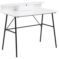 Elgin skrivbord - Vit/svart