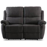 Enjoy Hollywood reclinersoffa - 2-sits (el) i antracit microfibertyg
