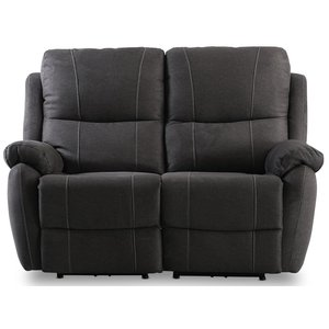 Enjoy Hollywood reclinersoffa - 2-sits (el) i antracit microfibertyg