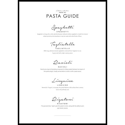 PASTA GUIDE - Poster 50x70 cm