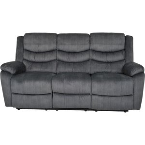 Ulmer 3-sits reclinersoffa - Mörkgrå