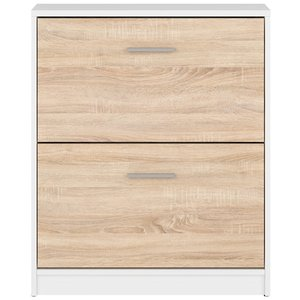 Norbo skoskåp - Vit/ekimitation