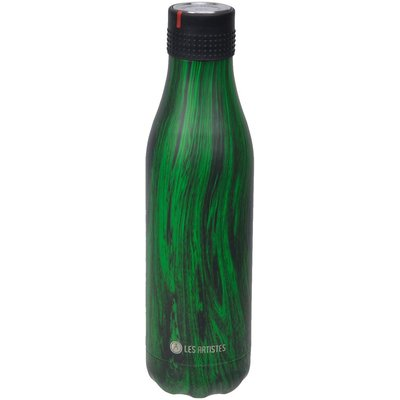 Bottle up termosflaska svart/grön - 0,5 L