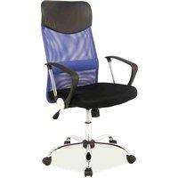 Laylah skrivbordsstol - Svart/blå
