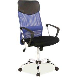 Kvissle skrivbordsstol - Svart/blå
