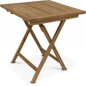 Grunnebo vikbart matbord i teak - 70x70 cm