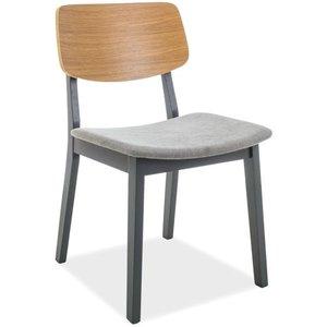 Brenton matstol - Grå/ek