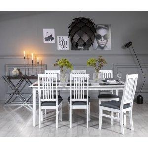 Gåsö matgrupp 180 cm inklusive 6 st Gåsö stolar - Vit