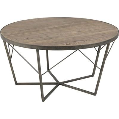Durham Soffbord runt 90 cm - Återvunnen alm/metall