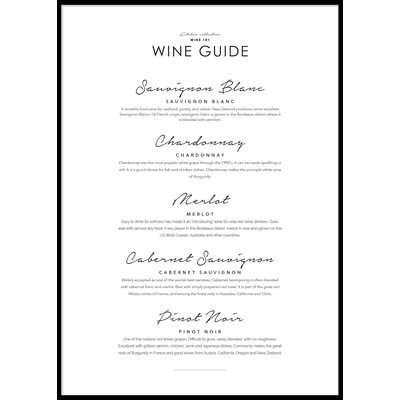 WINE GUIDE - Poster 50x70 cm