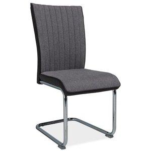 Lizbeth stol - Grå/krom
