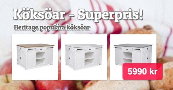 Superpopulära köksön Heritage - 5990 kr