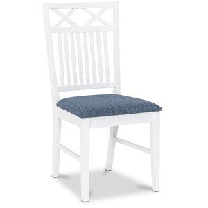Herrgård Ramnäs matstol - Vit / Blå