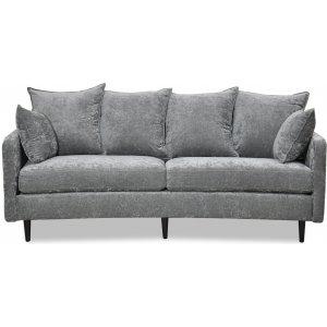 Gotland 3-sits svängd soffa - Oxford mörkgrå