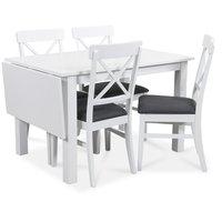 Sander matgrupp, Bord med klaff och 4 st Elisa matstolar