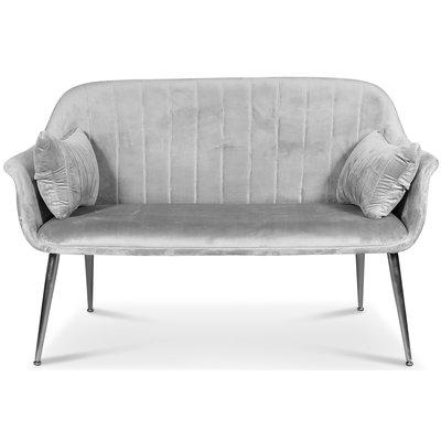 Flappy 2-sits soffa - Grå sammet / Kromade ben