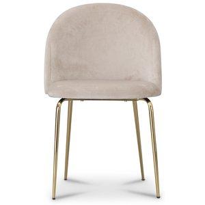 Tiffany velvet stol - Beige/Mässing