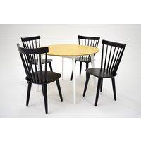Sarek matgrupp - Bord inklusive 4 st stolar - Ek / svart