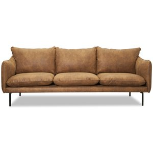 Björndal 3-sits soffa - Cognac ecoläder