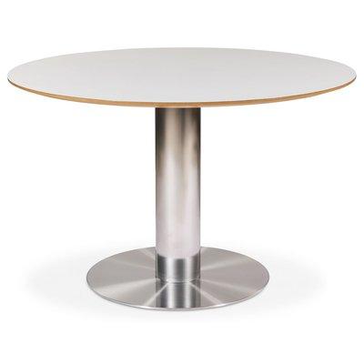 Next 118 runt matbord - Borstad stål / Ljus virrvarr