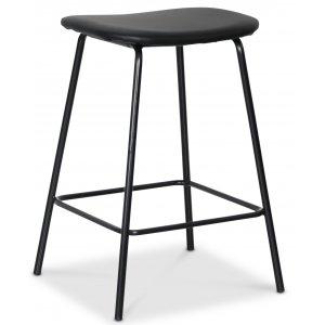 Shelby barstol - Svart PU / svart