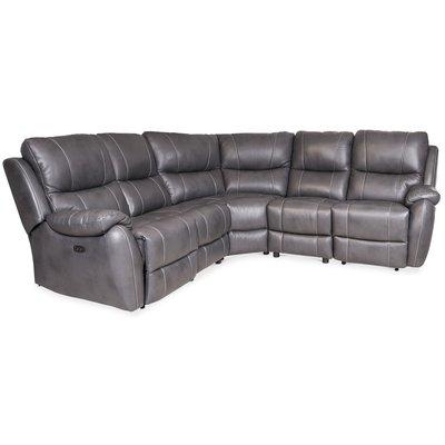 Enjoy reclinersoffa (Biosoffa) - 4-sits (el) i grått konstskinn