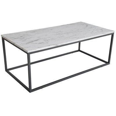 Beside soffbord - Grå marmorimitation / svart