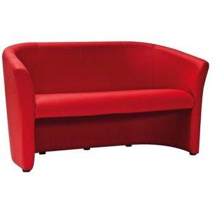Charity 3-sits soffa - Röd (PU)