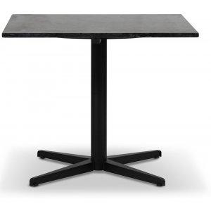 SOHO matbord 90x90 cm - Matt svart kryssfot / Svart granit