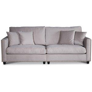 Avenue 4-sits soffa - Beige (Sammet)