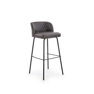 Orville barstol - Mörk grå/svart