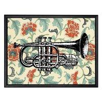 Tavla trumpet - Svart ram