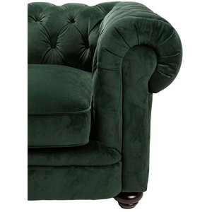 Chesterfield Sir Nelson XL 362 cm - Deep Forrest sammet