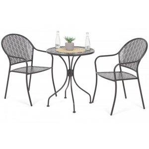 Cafégrupp Maja bord med 2st stolar - Grå