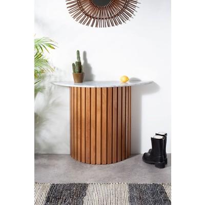 Matisse Konsolbord i marmor - Ek (Lameller) / Marmor