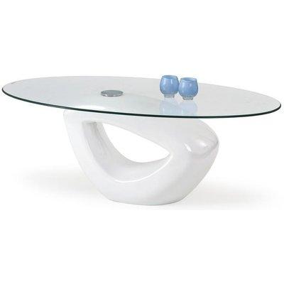 Sienna soffbord - Vit högglans
