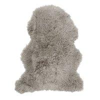 Frizzy långhårigt fårskinn - Mörkbeige
